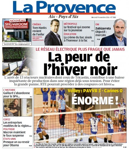 La Provence - UNE - 9 11 16